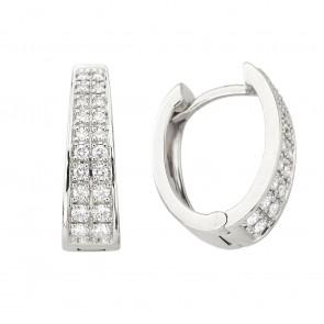 Сережки з декількома діамантами 942-2073