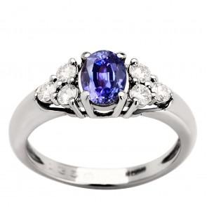 Каблучка з діамантами та кольоровим камінням 981-0945