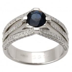 Каблучка з діамантами та кольоровим камінням 981-1397
