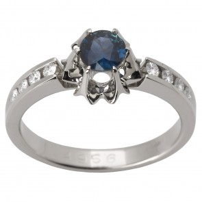 Каблучка з діамантами та кольоровим камінням 981-1438