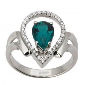 Каблучка з діамантами та кольоровим камінням 981-1458