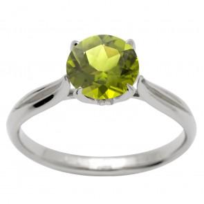 Каблучка з діамантами та кольоровим камінням 981-1605