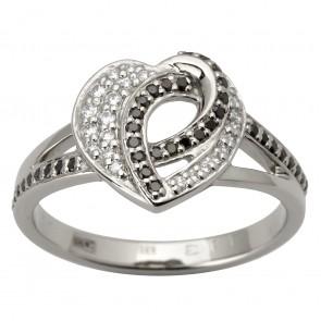 Каблучка з діамантами та кольоровим камінням 981-1773