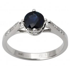 Каблучка з діамантами та кольоровим камінням 981-1799