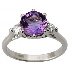 Каблучка з діамантами та кольоровим камінням 981-1813
