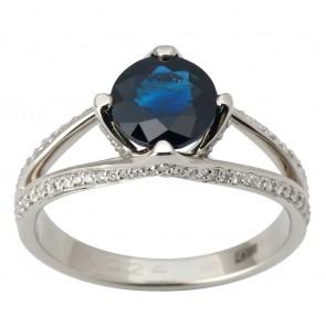 Каблучка з діамантами та кольоровим камінням 981-1832