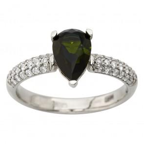 Каблучка з діамантами та кольоровим камінням 981-1853