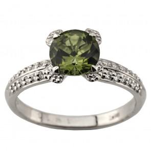 Каблучка з діамантами та кольоровим камінням 981-1951