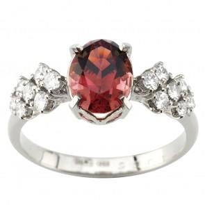 Каблучка з діамантами та кольоровим камінням 981-1963
