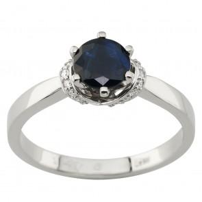 Каблучка з діамантами та кольоровим камінням 981-1969