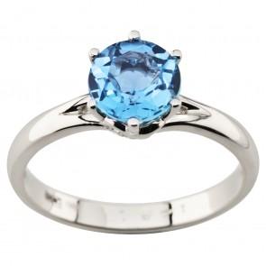 Каблучка з діамантами та кольоровим камінням 981-1976