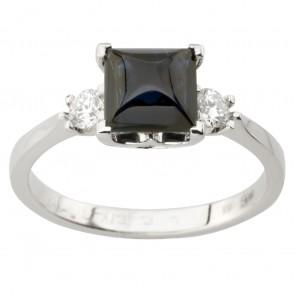 Каблучка з діамантами та кольоровим камінням 981-2001