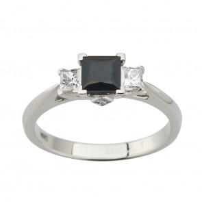 Каблучка з діамантами та кольоровим камінням 981-2012