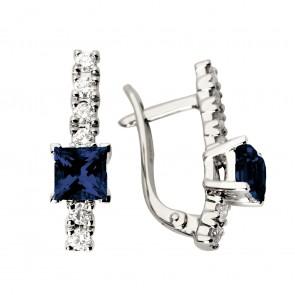 Сережки з діамантами та кольоровим камінням 982-0440