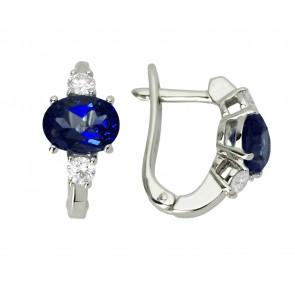 Сережки з діамантами та кольоровим камінням 982-0601