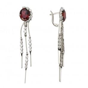 Сережки з діамантами та кольоровим камінням 982-0764