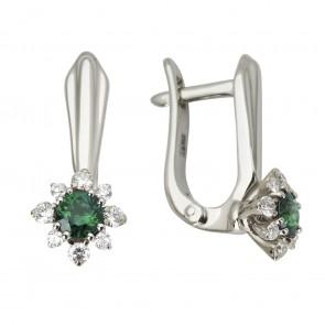 Сережки з діамантами та кольоровим камінням 982-1106