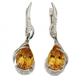 Сережки з діамантами та кольоровим камінням 982-1136