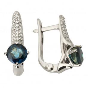Сережки з діамантами та кольоровим камінням 982-1143