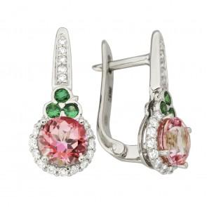 Сережки з діамантами та кольоровим камінням 982-1231