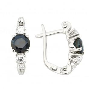 Сережки з діамантами та кольоровим камінням 982-1239