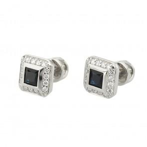 Сережки з діамантами та кольоровим камінням 982-1398