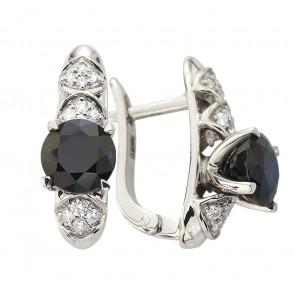 Сережки з діамантами та кольоровим камінням 982-2014