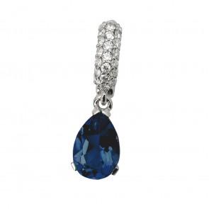 Підвіска з діамантами та кольоровим камінням 989-0641