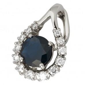 Підвіска з діамантами та кольоровим камінням 989-0776