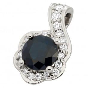 Підвіска з діамантами та кольоровим камінням 989-0813