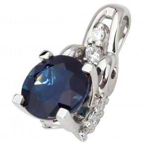 Підвіска з діамантами та кольоровим камінням 989-0829