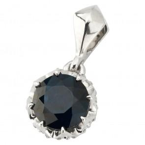 Підвіска з діамантами та кольоровим камінням 989-0858