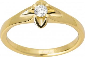 Каблучка з 1 діамантом 021-1572