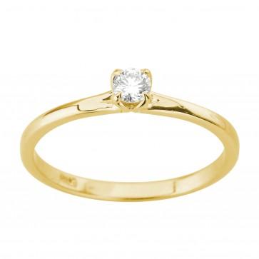 Каблучка з 1 діамантом 021-2028