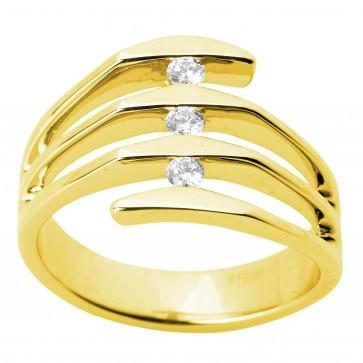 Каблучка з декількома діамантами 041-1265