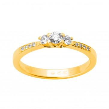 Каблучка з декількома діамантами 041-1640
