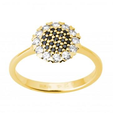 Каблучка з декількома діамантами 041-1712