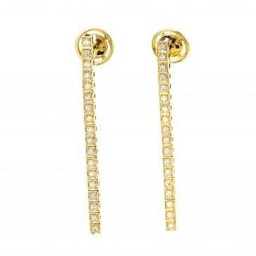 Сережки з декількома діамантами 042-1348