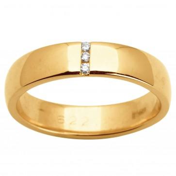 Обручка з декількома діамантами 141-1512