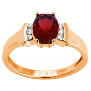 Каблучка з діамантами та кольоровим камінням 181-0954