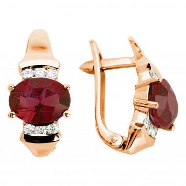 Сережки з діамантами та кольоровим камінням 182-0390