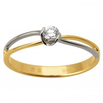 Каблучка з 1 діамантом 321-1683
