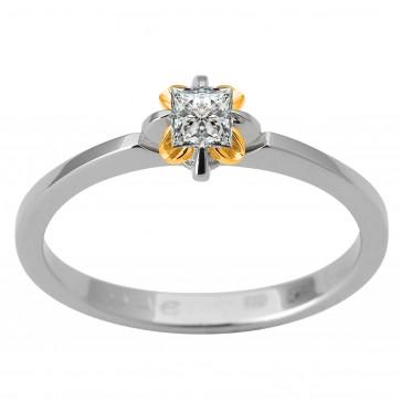 Каблучка з 1 діамантом 321-1821.12