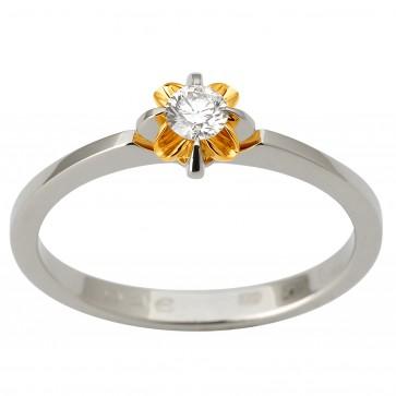 Каблучка з 1 діамантом 321-1821