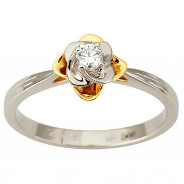 Каблучка з 1 діамантом 321-1890