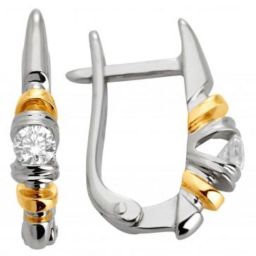 Сережки з 1 діамантом 322-0826