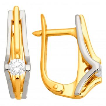 Сережки з 1 діамантом 322-0955