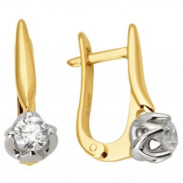 Сережки з 1 діамантом 322-1012