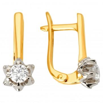 Сережки з 1 діамантом 322-1100