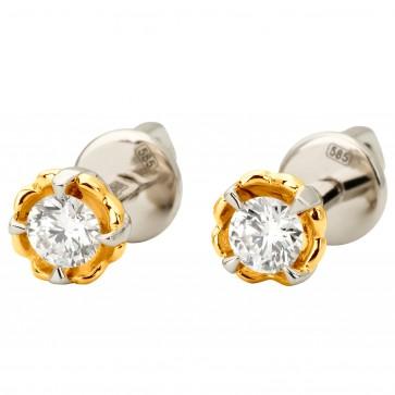 Сережки з 1 діамантом 322-1142